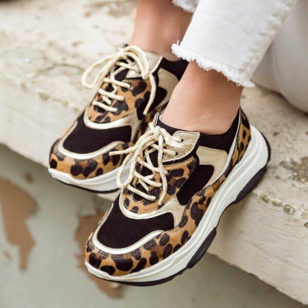 Marion Toufet Basket Lucile leopard
